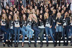 DEC 01 2014 Photocall with 47 Victorias Secret supermodels on New Bond St.
