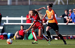 Claire Emslie of Bristol City Women goes past Deanna Cooper of London Bees - Mandatory by-line: Robbie Stephenson/JMP - 23/07/2016 - FOOTBALL - Stoke Gifford Stadium - Bristol, England - Bristol City Women v London Bees - FA Women's Super League 2