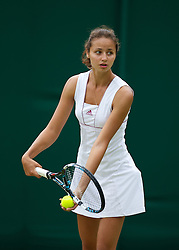LONDON, ENGLAND - Tuesday, July 3, 2012: Elizaveta Kulichkova (RUS) during the Girls' Singles 1st Round match on day eight of the Wimbledon Lawn Tennis Championships at the All England Lawn Tennis and Croquet Club. (Pic by David Rawcliffe/Propaganda)