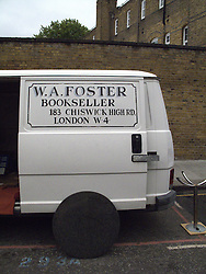 UK ENGLAND LONDON 20JUL13 - W.A. Foster bookseller van at Portobello Market, west London.<br /> <br /> <br /> <br /> jre/Photo by Jiri Rezac<br /> <br /> <br /> <br /> © Jiri Rezac 2013