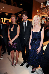 Left to right, GWYNETH PALTROW, ANTOINE ARNAUD son of Bernard Arnaud and KIRSTEN DUNST at a party to celebrate the opening of the Louis Vuitton Bond Street Maison, New Bond Street, London on 25th May 2010.