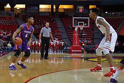 29 December 2016:  Phil Fayne(10) holds Jaiveon Eaves outside during an NCAA  MVC (Missouri Valley conference) mens basketball game between the Evansville Purple Aces the Illinois State Redbirds in  Redbird Arena, Normal IL