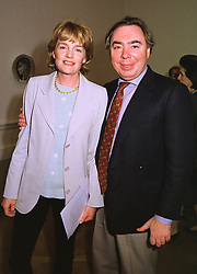 LORD & LADY LLOYD-WEBBER  at an exhibition in London on 15th September 1998.MKB 35