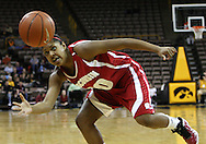 19 February 2009: Wisconsin guard Jade Davis (00) eyes a lose ball during the second half of an NCAA women's college basketball game Thursday, February 19, 2009, at Carver-Hawkeye Arena in Iowa City, Iowa. Iowa defeated Wisconsin 72-65.