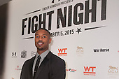 "HANDOUT: Michael B. Jordan and director Ryan Coogler promote ""CREED"" at FIGHT NIGHT."