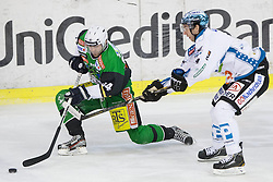 18.01.2013, Hala Tivoli, Ljubljana, SLO, EBEL, HDD Olimpija Ljubljana vs EHC Liwest Linz, 43. Runde, im Bild Andrej Hebar (HDD Olimpija, #84) // during the Erste Bank Icehockey League 43rd Round match between HDD Telemach Olimpija Ljubljana and EHC Liwest Linz at the Hala Tivoli, Ljubljana, Slovenia on 2013/01/18. EXPA Pictures © 2013, PhotoCredit: EXPA/ Sportida/ Matic Klansek Velej..***** ATTENTION - OUT OF SLO *****