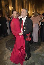 Alice Bah Kunhke, Jan Bjˆrklund<br /> <br />  <br /> <br />  beim Nobelbankett 2016 im Rathaus in Stockholm / 101216 <br /> <br /> <br /> <br /> ***The Nobel banquet, Stockholm City Hall, December 10th, 2016***