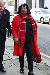 © Licensed to London News Pictures. 31/10/2019. London, UK. Labour Party NP Diane Abbott arrives at Battersea Arts Centre. Labour are launching their election manifesto today. Photo credit: Peter Macdiarmid/LNP