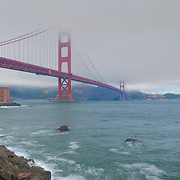 Golden Gate Bridge - Fort Point Shoreline - HDR