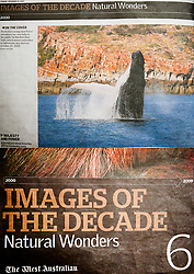 "Tearsheet - ""Images of the Decade - Natural Wonders"" liftout in The West Australian, December 2009."