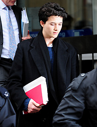 Charlie Gilmour, the son of Pink Floyd guitarist David Gilmour, leaves Westminster Magistrates' Court, London, Mr Gilmour has been charged with violent disorder during a student fees protest in central London in December 9, 2010. Friday February 11, 2011. Photo By Andrew Parsons/ i-Images