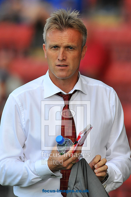 Picture by Ste Jones/Focus Images Ltd +44 7706 592282.08/09/2012.Crewe Alexandras manager Steve Davies during the npower League 1 match at Alexandra Stadium, Crewe.