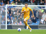 Preston North End striker Jordan Hugill (25) during the Sky Bet Championship match between Brighton and Hove Albion and Preston North End at the American Express Community Stadium, Brighton and Hove, England on 24 October 2015.