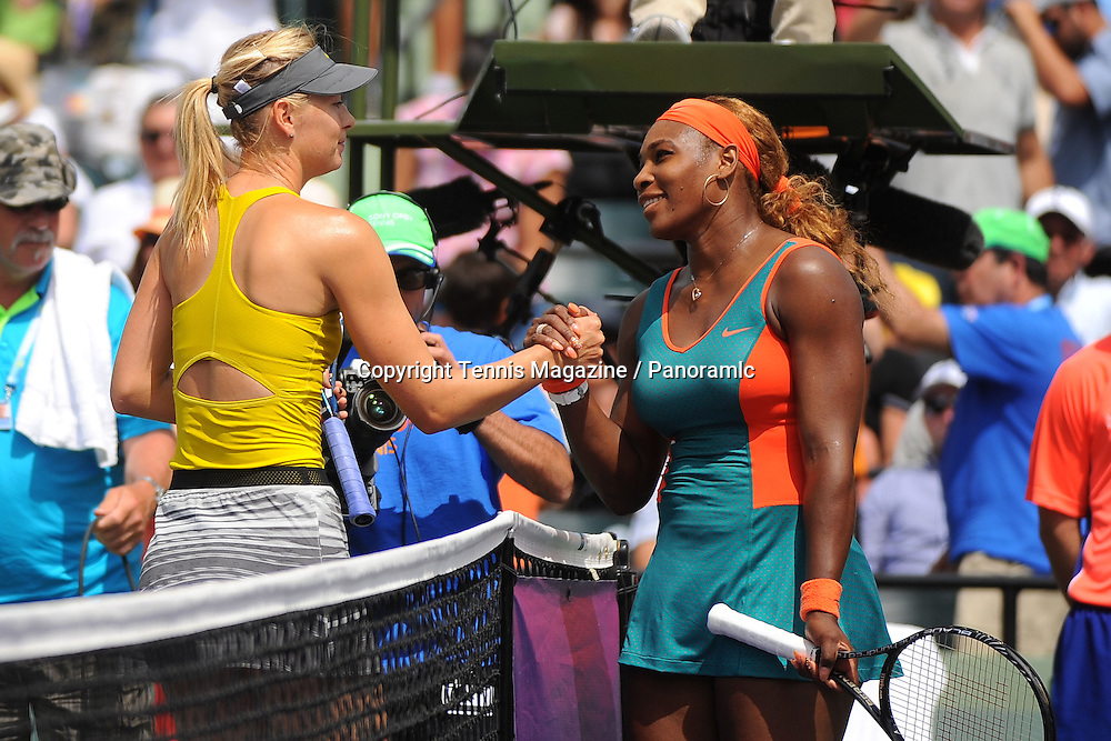 Maria Sharapova (RUS)<br /> Serena Williams (USA)