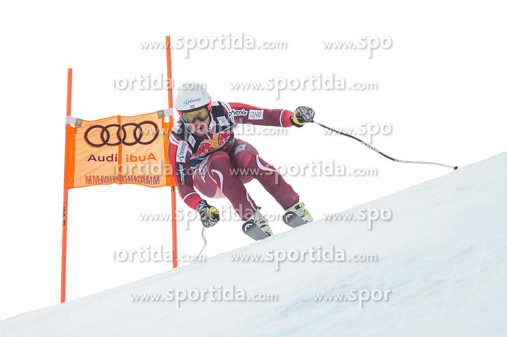 19.01.2016, Streif, Kitzbuehel, AUT, FIS Weltcup Ski Alpin, Kitzbuehel, 1. Abfahrtstraining, Herren, im Bild Kjetil Jansrud (NOR) // Kjetil Jansrud of Norway in action during 1st Training of the men's Downhill Race of Kitzbuehel FIS Ski Alpine World Cup at the Streif in Kitzbuehel, Austria on 2016/01/19. EXPA Pictures © 2016, PhotoCredit: EXPA/ Johann Groder