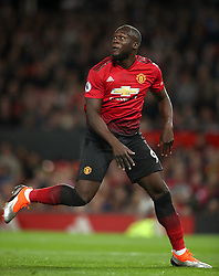 Manchester United's Romelu Lukaku during the Premier League match at Old Trafford, Manchester