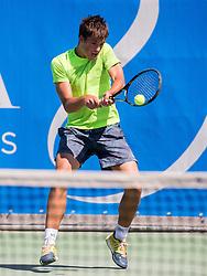 Aljaz Jakob Kaplja of Slovenia during 1st Round of Qualifications at ATP Challenger Tilia Slovenia Open 2016, on August 6, 2016 in Portoroz/Portorose, Slovenia. Photo by Vid Ponikvar / Sportida