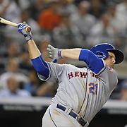 Lucas Duda, New York Mets, batting during the New York Yankees V New York Mets, Subway Series game at Yankee Stadium, The Bronx, New York. 12th May 2014. Photo Tim Clayton