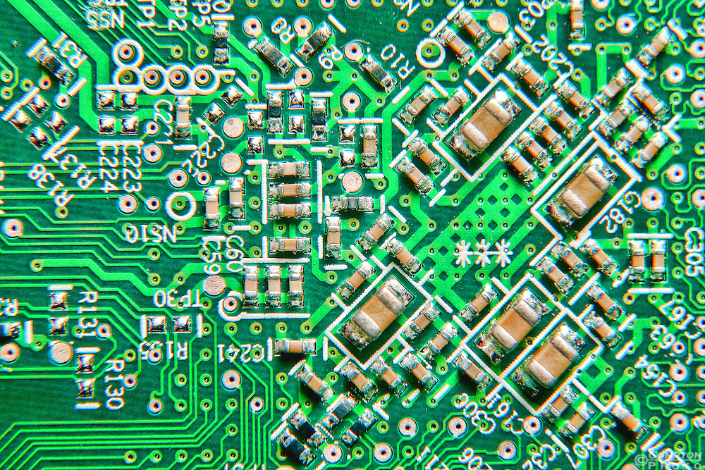 Macro image of a circuit board