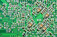 Macro image of a circuit board