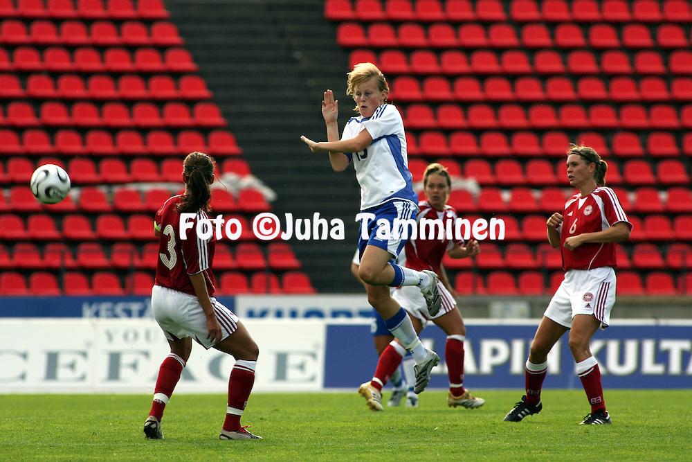 26.08.2006, Ratina, Tampere, Finland..Naisten MM-karsintaottelu Suomi - Tanska / FIFA Women's World Cup Qualifying match, Finland v Denmark..Annica Sj?lund - Finland.©Juha Tamminen.....ARK:k