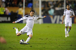 Los Angeles Galaxy's David Beckham during play against the Houston Dynamo 1-0 in the MLS Cup at the Home Depot Center. Los Angeles Galaxy 1-0 over the Dynamo USA, Sunday, Nov. 20. 20011, in Carson, California. Photo by Matt A. Brown/isiphotos.com