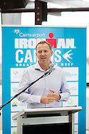 Geoff Meyer (CEO USM Events). Pre Race Press Conference. 2012 Ironman Cairns Triathlon. Salt House Restaurant, Cairns, Queensland, Australia. 31/05/2012. Photo By Lucas Wroe.