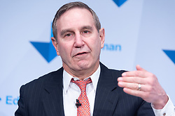 © Licensed to London News Pictures. 29/01/2019. London, UK. Richard Edelman<br /> Chief Executive Officer of Edelman makes a speech at the launch of Edelman Trust Barometer 2019. Photo credit: Ray Tang/LNP