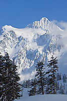 WA09041-00...WASHINGTON - Winter view of Mount Shuksan from Heather Meadows Recreation Area.