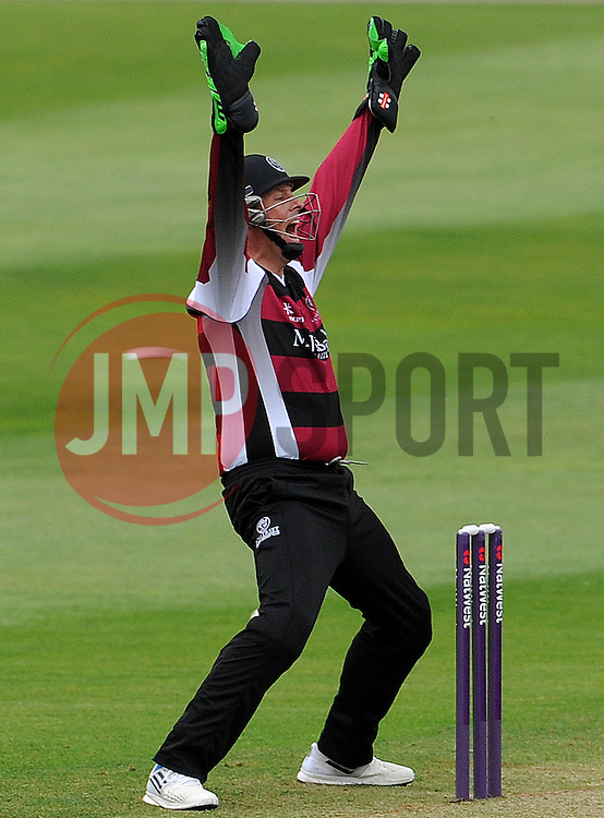 Somerset's Marcus Trescothick appeals Photo mandatory by-line: Harry Trump/JMP - Mobile: 07966 386802 - 22/05/15 - SPORT - CRICKET - Natwest T20 Blast - Somerset v Sussex Sharks - The County Ground, Taunton, England.