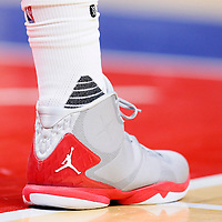 21 December 2015: Close view of Los Angeles Clippers forward Blake Griffin (32) Jordan Brand shoes an Stance socks during the Oklahoma City Thunder 100-99 victory over the Los Angeles Clippers, at the Staples Center, Los Angeles, California, USA.
