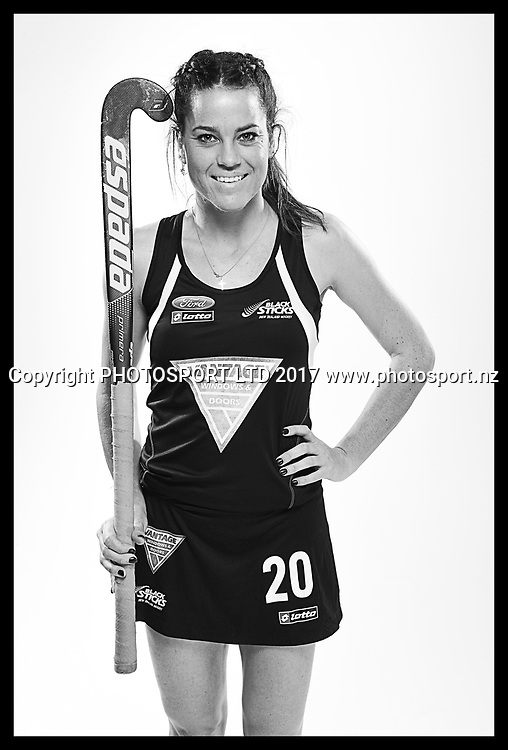 Natasha FitzSimons, New Zealand Black Sticks women, national hockey team photoshoot. Photosport Studio, Auckland. August 2017, Copyright Image: Andrew Cornaga / www.photosport.nz