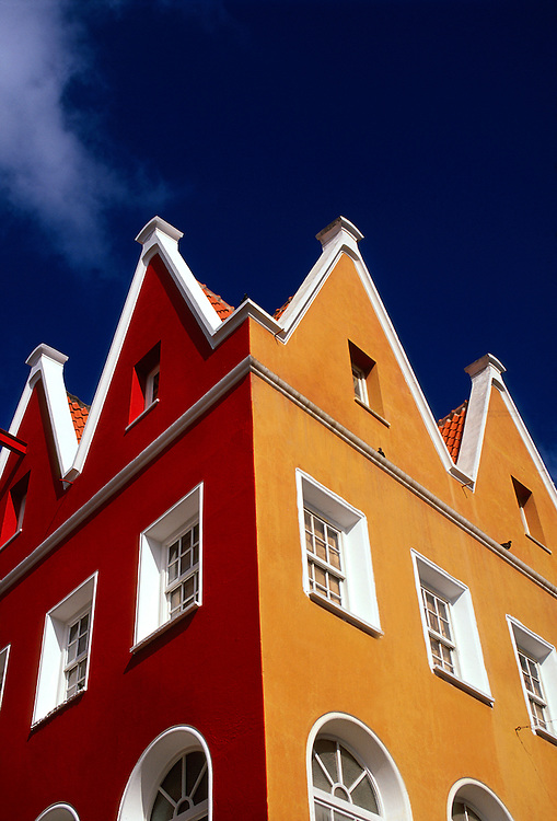 Dutch architecture in the Punda section of Willemstad, Curacao, Netherlands Antilles