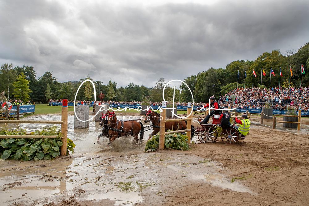 Voutaz J&eacute;rome, SUI, Belle du Peupe CH, Eva III CH, Flore CH, Folie des Moulins CH, Leon<br /> FEI European Driving Championships - Goteborg 2017 <br /> &copy; Hippo Foto - Dirk Caremans<br /> 26/08/2017,