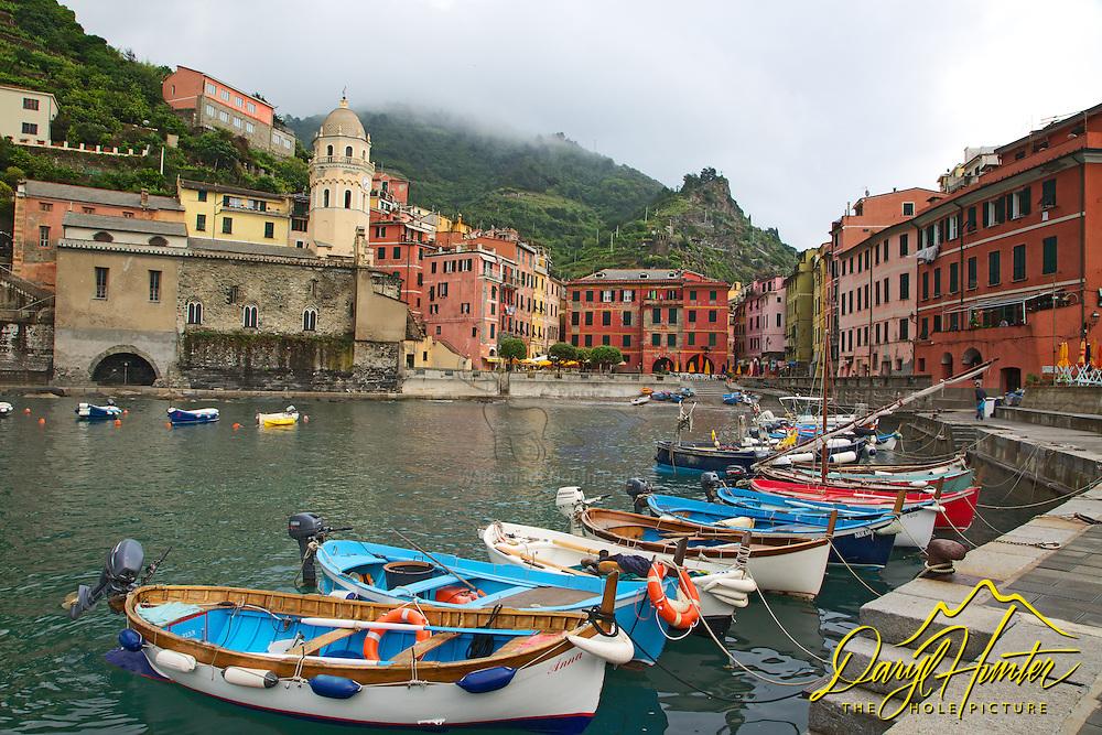 Boat harbor, Village of Vernazza in Cinque Terra National Park, Italy