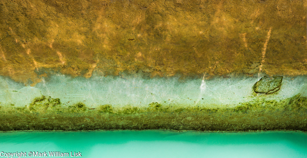 Asure water mixes with the Colorado at the mouth of Havasu Creek, Grand Canyon National Park.