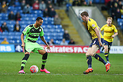 Forest Green's Keanu Marsh-Brown on the ball during the The FA Cup match between Oxford United and Forest Green Rovers at the Kassam Stadium, Oxford, England on 6 December 2015. Photo by Shane Healey.