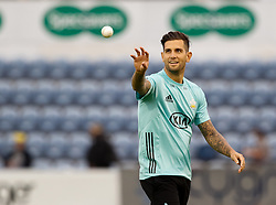 Surrey's Jade Dernbach in action today <br /> <br /> Photographer Simon King/Replay Images<br /> <br /> Vitality Blast T20 - Round 14 - Glamorgan v Surrey - Friday 17th August 2018 - Sophia Gardens - Cardiff<br /> <br /> World Copyright © Replay Images . All rights reserved. info@replayimages.co.uk - http://replayimages.co.uk
