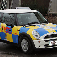 The Mini Police car outside the Tayside Police Western Division HQ in Perth.<br />