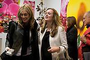 KIM HERSOV AND LUCY YEOMANS, 'Evolution', an exhibition of work by Marc Quinn. White Cube. Masoin's Yard. London. 24 January 2008. -DO NOT ARCHIVE-© Copyright Photograph by Dafydd Jones. 248 Clapham Rd. London SW9 0PZ. Tel 0207 820 0771. www.dafjones.com.