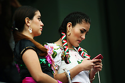 Traditionally dressed Mexicans.<br /> 28.10.2016. Formula 1 World Championship, Rd 19, Mexican Grand Prix, Mexico City, Mexico, Practice Day.<br /> Copyright: Batchelor / XPB Images / action press