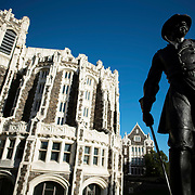 October 4, 2016 - New York, N.Y. : A view of Shepard Hall and the Alexander S. Webb statue at the City College of New York, on Tuesday afternoon, October 4.  CREDIT: Karsten Moran for The New York Times