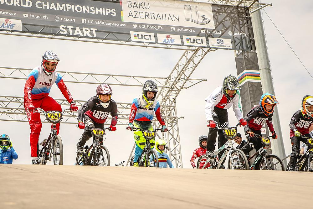 2018 UCI World Championships<br /> Baku, Azerbaijan<br /> 16 Boys #254 (KHAMITOV David) RUS<br /> 10 Boys #155 (KRUMINS Arturs Roberts) LAT Thrill<br /> 12 Boys #273 (CHUCHUI Ilia) RUS<br /> 14 Boys #125 (DUSSEX Lucien) SUI<br /> 11 Boys #211 (PUJINS Rainers) LAT