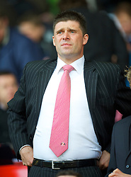 LIVERPOOL, ENGLAND - Sunday, March 28, 2010: Sunderland's chairman Niall Quinn sees his side take on Liverpool during the Premiership match at Anfield. (Photo by: David Rawcliffe/Propaganda)