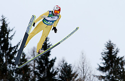 15.01.2012, Kulm, Bad Mitterndorf, AUT, FIS Ski Flug Weltcup, erster Durchgang, im Bild Kamil Stoch (POL) // Kamil Stoch from Poland during the first round of FIS Ski Flying World Cup at the 'Kulm', Bad Mitterndorf, Austria on 2012/01/15, EXPA Pictures © 2012, PhotoCredit: EXPA/ Erwin Scheriau