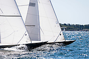 Leaf and Belle sailing in the Newport Classic Yacht Regatta, day two.