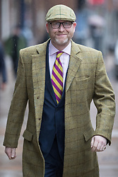 © Licensed to London News Pictures . 28/01/2017 . Stoke-on-Trent , UK . PAUL NUTTALL arrives . UKIP formally launch their campaign in the by-election in the constituency of Stoke-on-Trent Central , at their new campaign shop at 1 Piccadilly in Stoke , with candidate - and party leader - Paul Nuttall . The seat was vacated when Tristram Hunt resigned . Photo credit : Joel Goodman/LNP