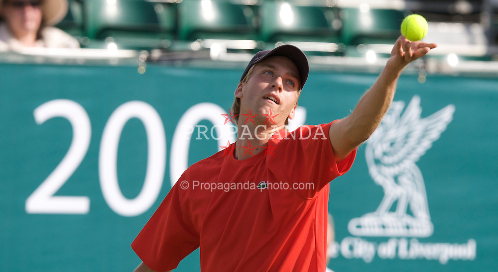 Liverpool, England - Tuesday, June 12, 2007: Fredrik Sletting-Johnsen in action on day one of the Liverpool International Tennis Tournament at Calderstones Park. For more information visit www.liverpooltennis.co.uk. (Pic by David Rawcliffe/Propaganda)