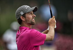 May 13, 2018 - Ponte Vedra Beach, FL, USA - The Players Championship 2018 at TPC Sawgrass..Webb Simpson on 17 tee.  He won the TPC at 18 under (Credit Image: © Bill Frakes via ZUMA Wire)