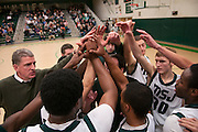 The Mount Saint Joseph's basketball team plays a game against  Brattleboro High School in Rutland, Vermont.